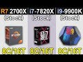 R7 2700X Vs. i7-7820X Vs. i9-9900K | New Games Benchmarks