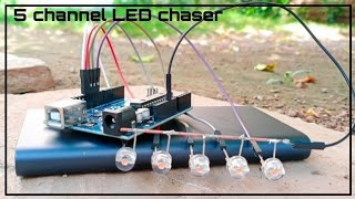 How to make 5 channel LED chaser with Arduino How to make led chaser