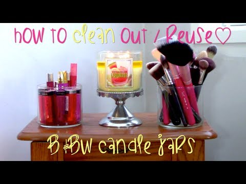 How To CLEAN Out Reuse Bath Body Works Candle Jars