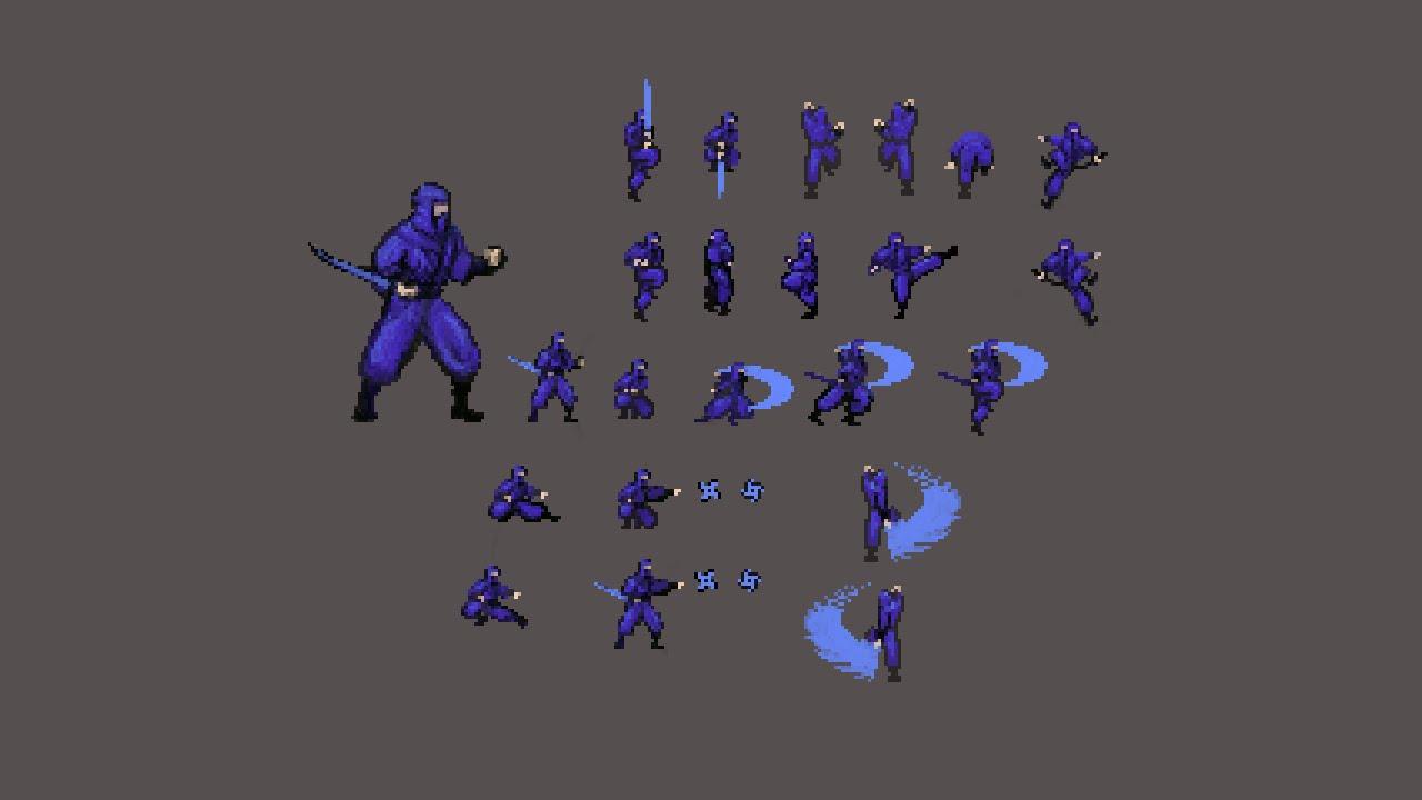 Pixel Art 04 Ninja Sprite Sheet