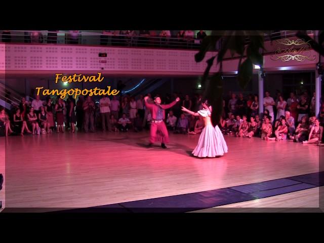Toulouse, Folklore Argentino en Francia. Giselle Gatica y Roque Castellano. Tangopostale Festival,