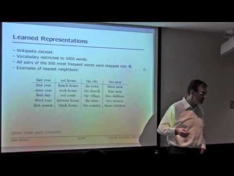 NIPS 2011 Learning Semantics Workshop: From Machine Learning to Machine Reasoning