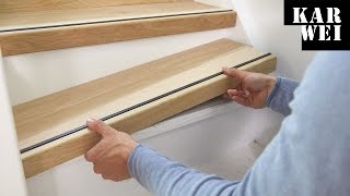KARWEI | Traprenovatie hout op trap aanbrengen