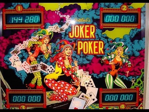 Gottlieb joker poker pinball machine for sale casino supermarche nice horaires