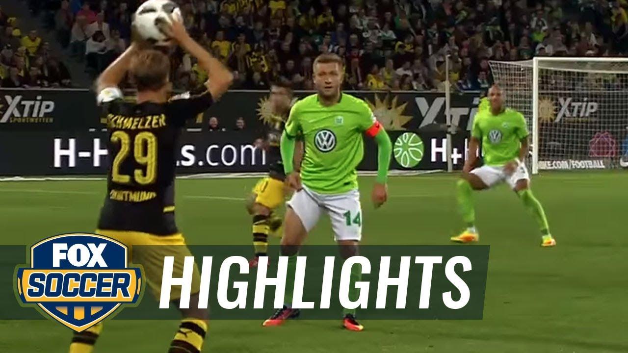 Download Aubameyang gives Dortmund 2-0 lead over Wolfsburg | 2016-17 Bundesliga Highlights