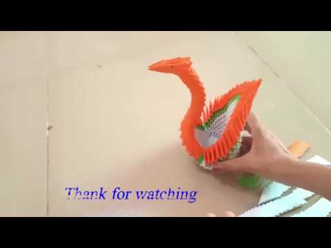 DIY Crafts. How to making paper 3D Swan/DIY Paper Crafts Swan.