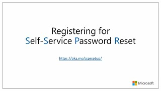 How to register for self-service password reset | Azure Active Directory