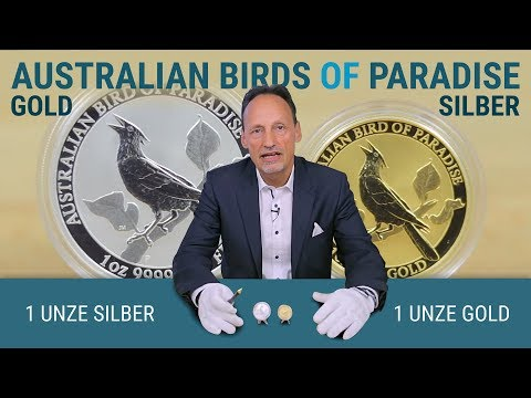 1 Unze Gold Und 1 Unze Silber - Australian Birds Of Paradise 2019
