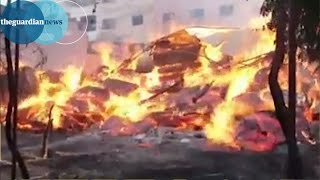 Alleged Syrian napalm attack - unverified video shows aftermath thumbnail