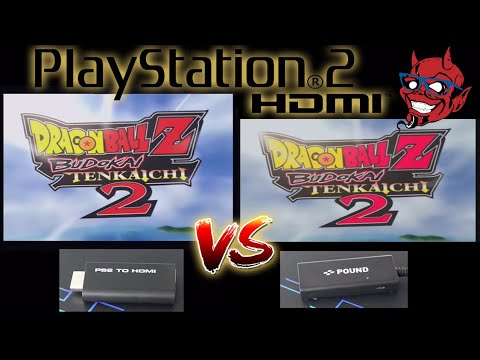 Playstation 2 - Pound HDMI Cable Vs. PS2 To HDMI Dongle Comparison