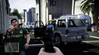 GTA 5 - Martin Madrazo's Gang VS LS Cops At The MOVIE STUDIO (GTA 5 Funny Moments)
