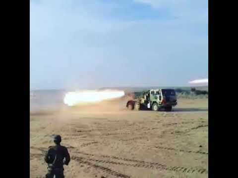 Indian Army playing with 122mm Grad and 214mm Pinaka MBRL