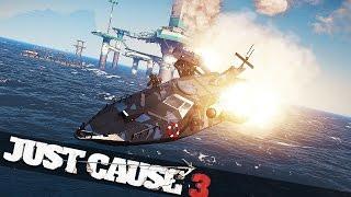JUST CAUSE 3 FLYING SHIP!! :: Just Cause 3 Bavarium Sea Heist Story!!