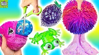 Opening Up Squishy Toys! Orb Plopzz And Bubble Drops! Doctor Squish