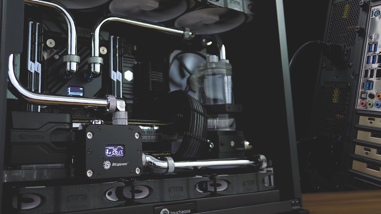 MONOCHROME mATX O11 MINI No RGB Build. Dual PSU, DUAL GPU, Triple Rads!