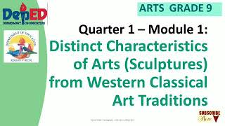 DISTINCT CHARACTERISTICS OF ARTS SCULPTURE FROM WESTERN CLASSICAL ART TRADITION 9 MODULE 2 Q1 YouTube