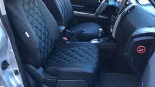 видео Авточехлы из экокожи на NISSAN X-Trail черные