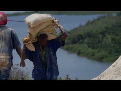 Motivated miners in Rwanda