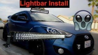 veloster turbo light bar install intake filter cleaning