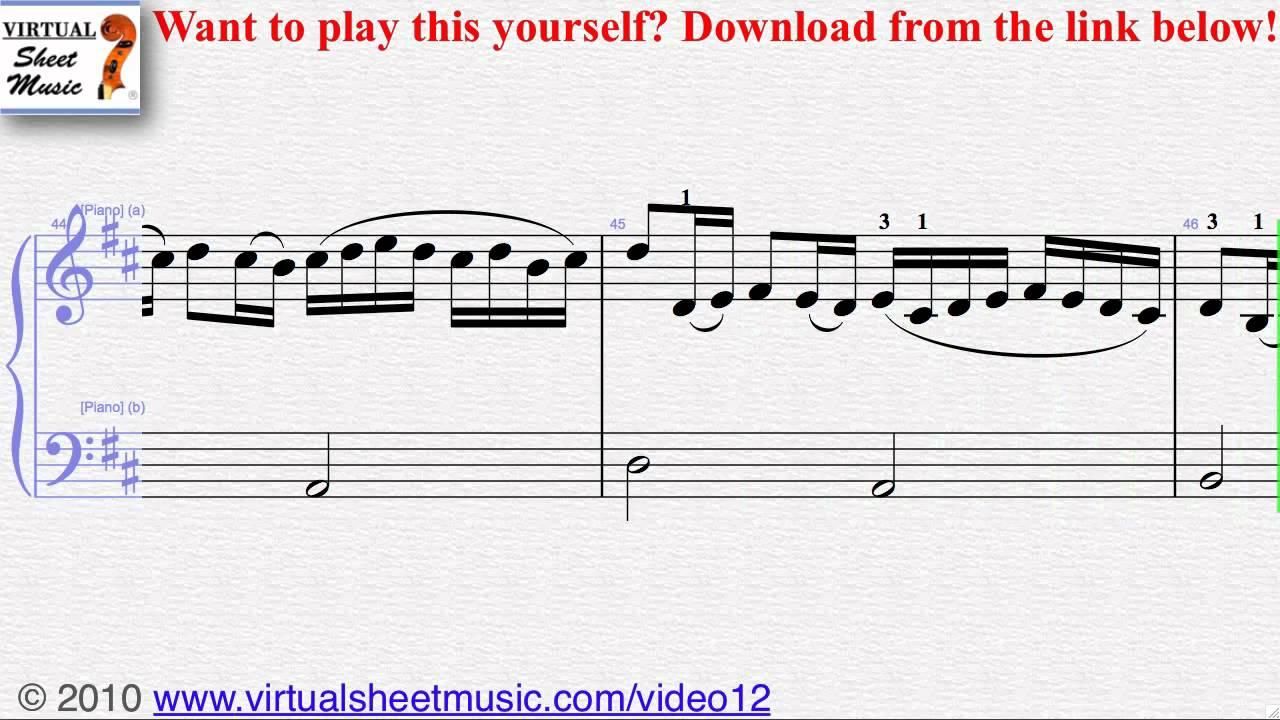 Pachelbel's Canon in D (Easy Transcription) piano sheet music - Video Score