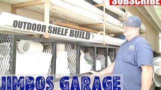 Outdoor Garage Shelf Build - JIMBOS GARAGE