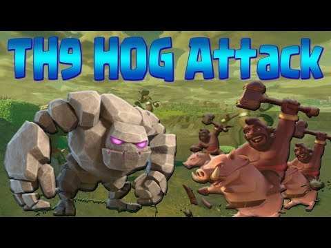 HOW TO HOG TH9   GoHo & GoHoBo Attack Strategy   Clash of Clans War