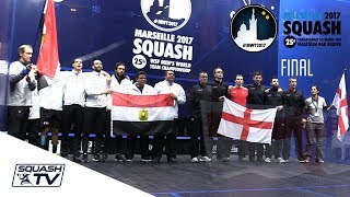 Squash: Egypt v England - Men\'s World Team Champs 2017 - Final Highlights