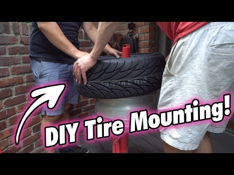 Mounting Tires on a $40 HARBOR FREIGHT Machine! // DIY