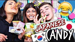 JAPANISCHE CANDY CHALLENGE - Mit meinen GESCHWISTERN!!