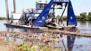 Onondaga Lake Cleanup - Sevenson's Cutterhead Dredge