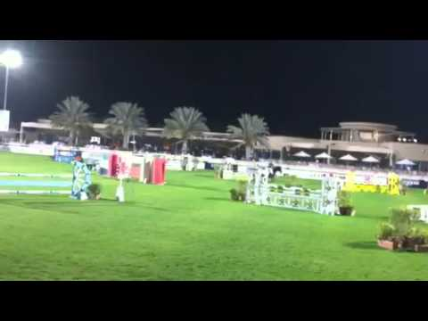 Dubai national show jumping grand prix competition round 1