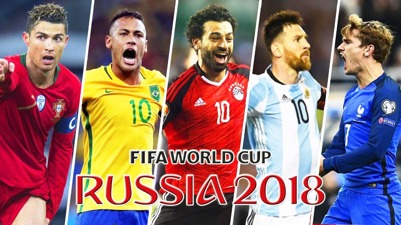 brand new 4b62a 68312 FIFA World Cup 2018 Stars ft. Salah, Neymar, Cristiano Ronaldo, Messi,  Griezzman, Hazard
