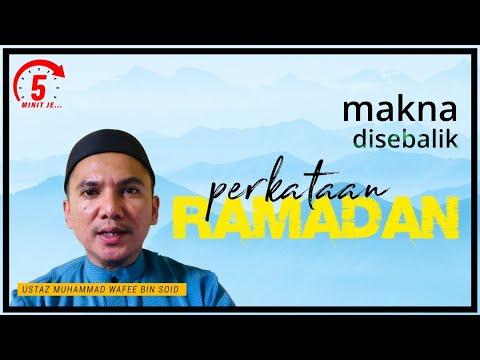 5 Minit Jer Ep 1: Makna di Sebalik Perkataan Ramadan