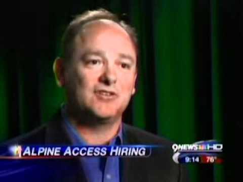 "9News: ""Alpine Access - Now Hiring"""