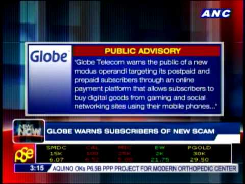 Globe warns of new scam