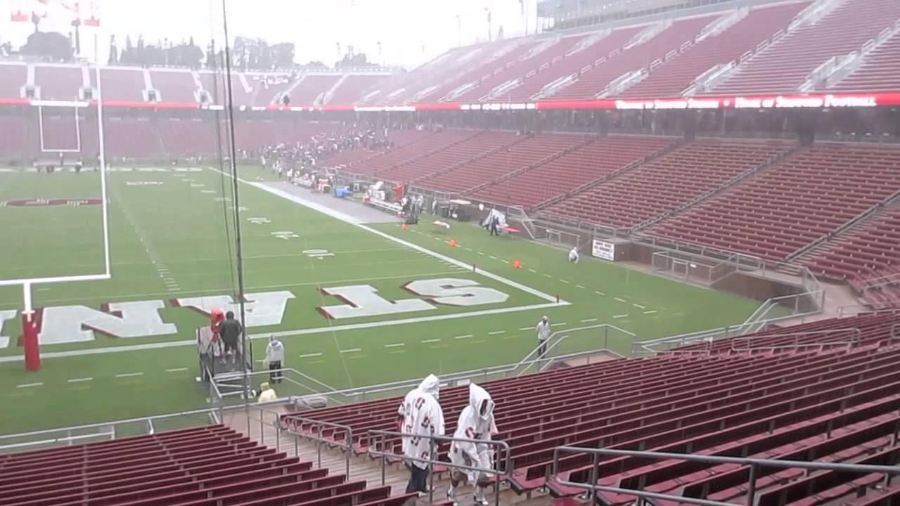 Rain storm before Stanford vs. Arizona State Football Game ...