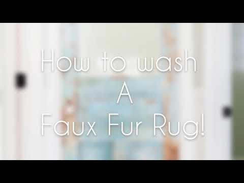 HOW TO WASH FAUX FUR RUG