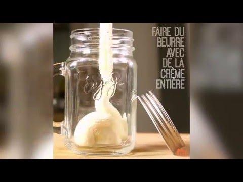 Faire du beurre avec de la crème !