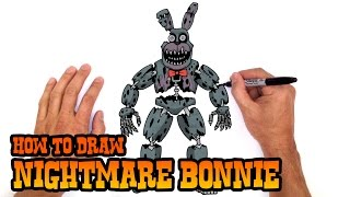 How to Draw Nightmare Bonnie | Five Nights at Freddy