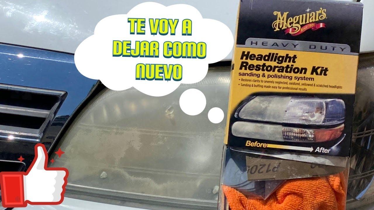 Como restaurar pulir arreglar los focos de tu carro faros - Como pulir faros de coche ...