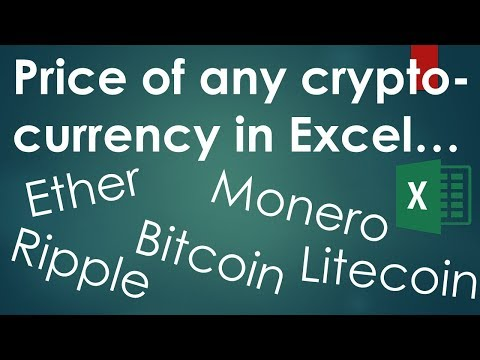 Price of any cryptocurrency (Bitcoin, Ether,) into Excel (VBA Macro inside)