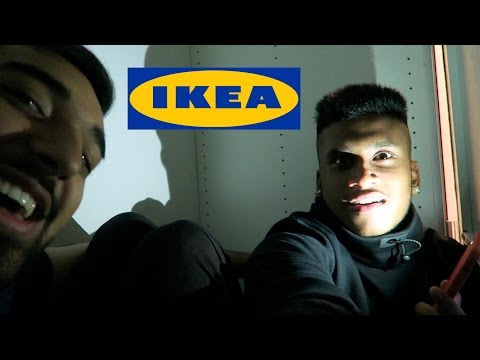 OVERNIGHT IN IKEA FORT CHALLENGE ATTEMPT!! (24 HOUR ATTEMPT)
