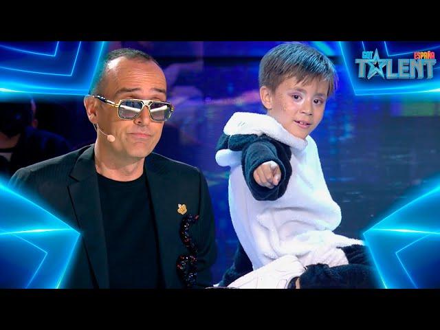 Este pequeño OSITO PANDA muestra su FLOW con su BAILE   Audiciones 3   Got Talent España 7 (2021)
