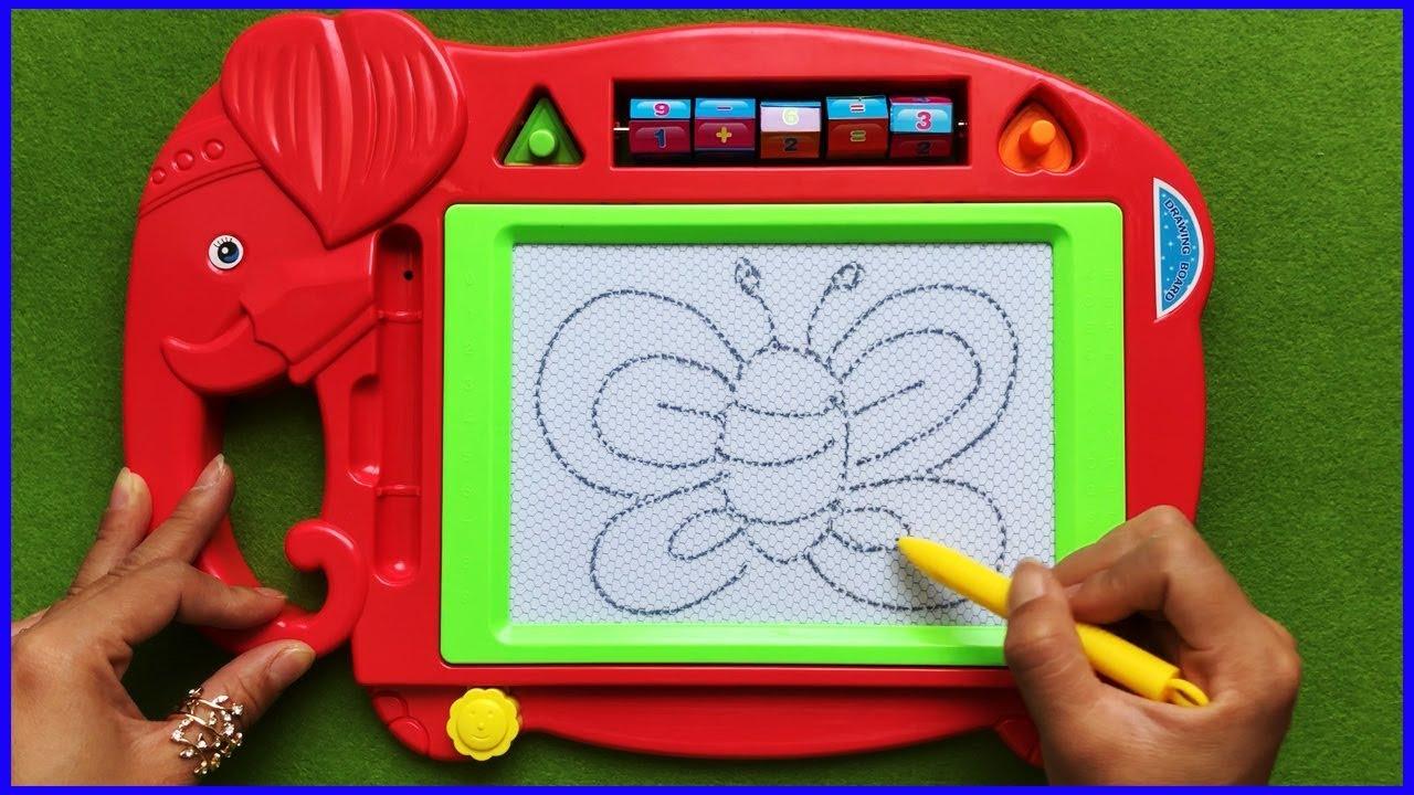 Đồ chơi trẻ em BẢNG TỪ THẦN KÌ VẼ TRANH & VIẾT CHỮ GIÚP BÉ HỌC TẬP | Toys for Kids (chị Chim Xinh)