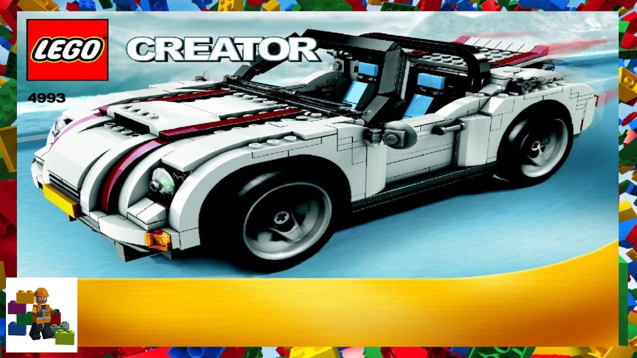 Lego Instructions Creator 4993 Cool Convertible Book 1 Youtube