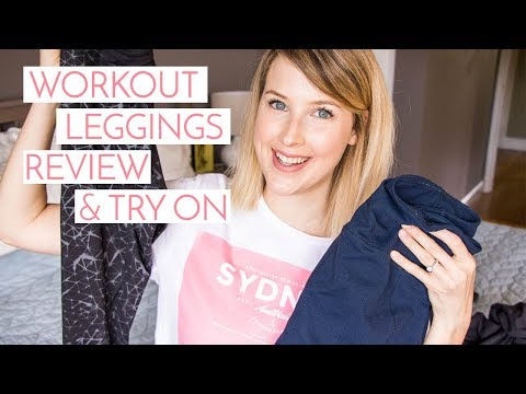 WORKOUT LEGGINGS REVIEW + TRY ON | LULULEMON, BEYOND YOGA ETC.