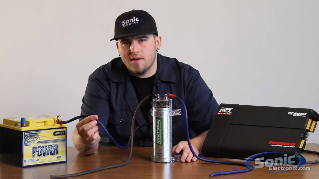 rockford fosgate capacitor wiring diagram club car golf cart 4 battery how to install a audio youtube