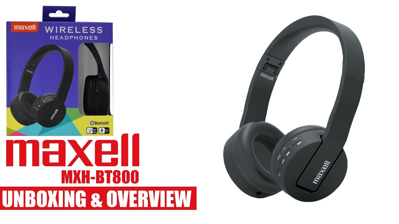 Maxell MXH-BT800 Bluetooth Headphones Unboxing   Overview - YouTube 5a887ad7fa