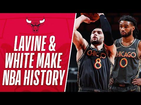 Zach LaVine & Coby White Make 3-Point HISTORY!