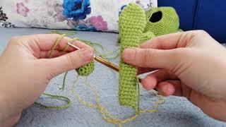 Amigurumi kurbağa yapılışı #arka bacaklar